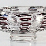 SOLD Orrefors Ariel Footed Bowl by Edvin Ohrstrom