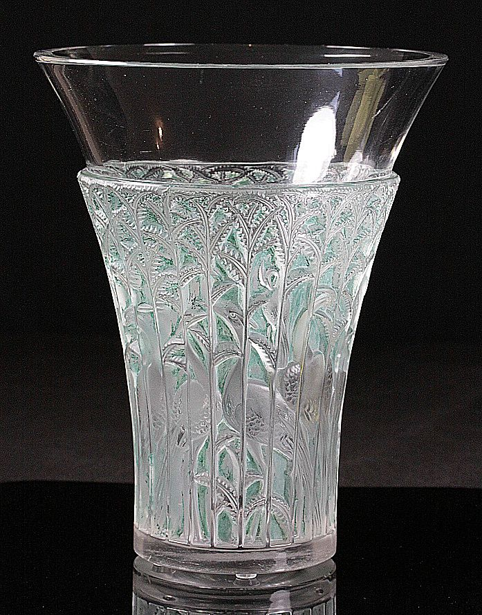 """René Lalique """"Ibis"""" Vase"""