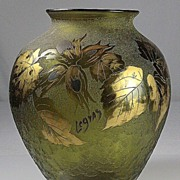 SOLD Legras Cameo and Gold Gilt Vase