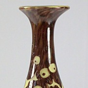 "SOLD Le Verre Francais ""Chenes""  Pattern Cameo Vase by Schneider"
