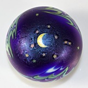 "SOLD Lundberg Studios ""Night Sky"" Paperweight by Daniel Salazar"