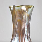 SOLD Loetz Gold Wellenoptisch Vase