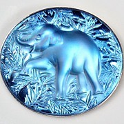 SOLD Lalique Elephant Crystal Brooch