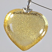 """SOLD Daum Yellow """"Coeur Passion"""" Crystal Necklace"""