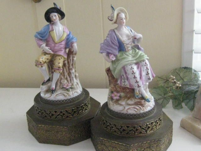 Pair of Porcelain Figures -  Lamp Bases
