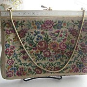 SALE Beautiful Vintage Needlepoint Purse