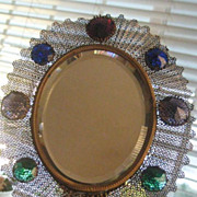 REDUCED REDUCED Very Old Wonderfully Jeweled Hand Mirror