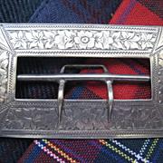 Scottish Hallmarked Silver Victorian Buckle 3 inches wide