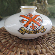 Vintage Shelley China TEIGNMOUTH Coat of Arms Jar