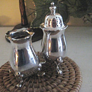 Pair English Silver Plated Salts
