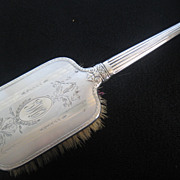 Vintage Silverplate on Copper Vanity Brush Monogrammed O.M.G.
