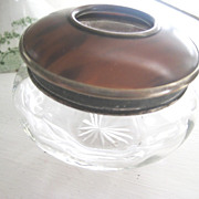 Vintage Glass/Tortoiseshell Hair Receiver