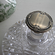 Vintage Cut Crystal Base and Silver Stopper