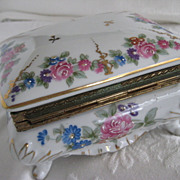 SALE Beautiful Rose Pattern Vintage Jewel Box