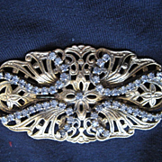 Vintage Freirich Diamante Brooch