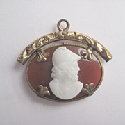 Victorian Gold Fill Pendant with Carnelian Background