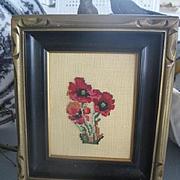 Pretty Vintage Floral Needlepoint