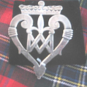 Beautiful LARGE Scottish Silver Luckenbooth Brooch