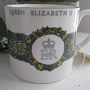 Queen Elizabeth Silver Jubilee Bone China Mug