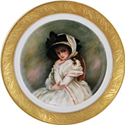 Hand Painted Limoges Plates - Set of 4 by Surber