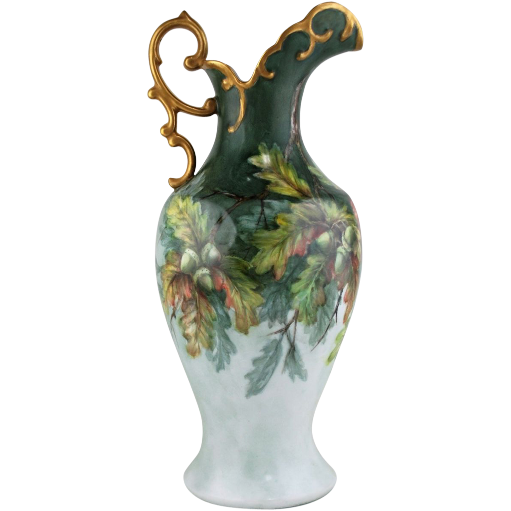 Hand Painted Porcelain Pitcher by Surber