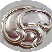 Sterling  Silver Floral Brooch , Laton