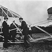 Copy of 1903 Photograph of Orville & Wilbur Wright at Kill Devil Hills, NC