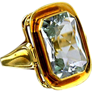 Aquamarine Ring 14kt Yellow Gold - 9.51cts