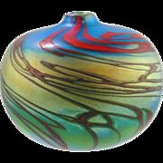 Art Glass Vase -Swirl Design by Ken Peterson