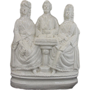 Antique Staffordshire Figurine With Three Characters