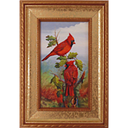 The Red Team-Miniature Oil Painting on Ivorine
