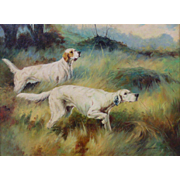 Dogs - Original Oil Painting by Henry Carr