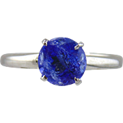 SALE Tanzanite Solitaire Style Ring 14kt White Gold