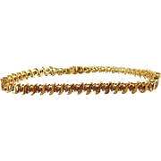 SALE 10kt Yellow Gold Diamond Tennis Bracelet