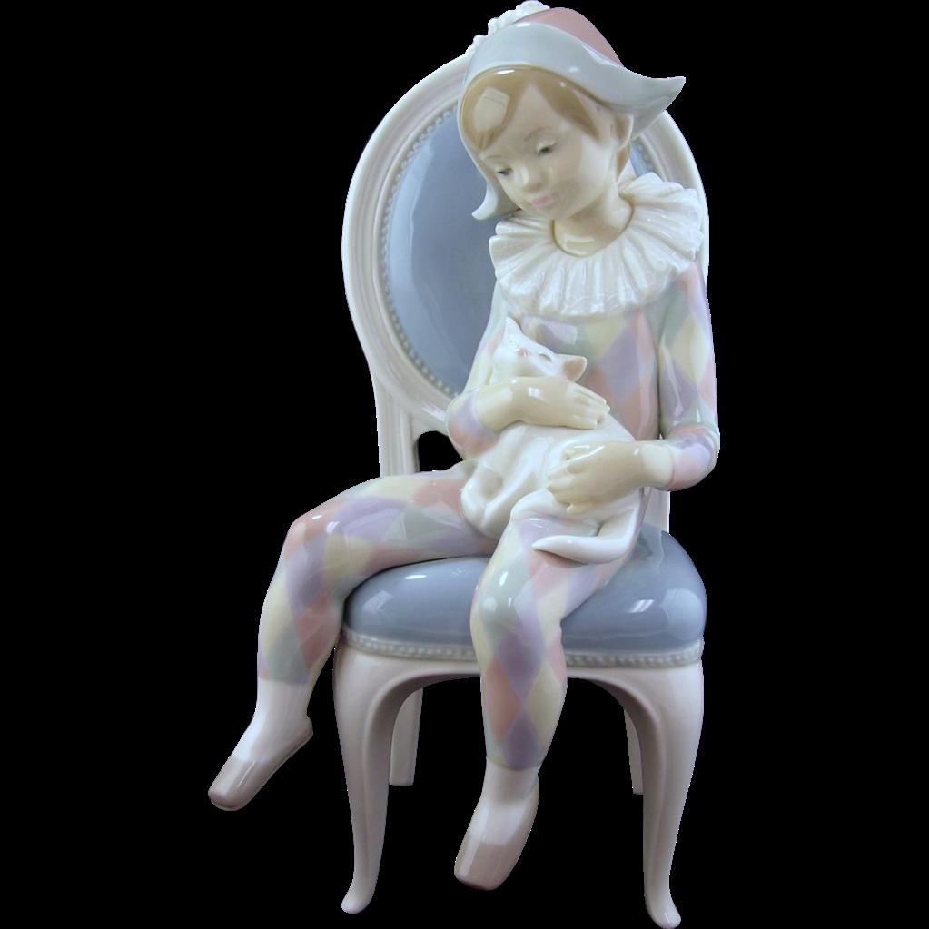 Lladro Figurine, Young Harlequin #1229