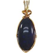 SALE Opal Pendant 14kt Yellow Gold -20.73cts