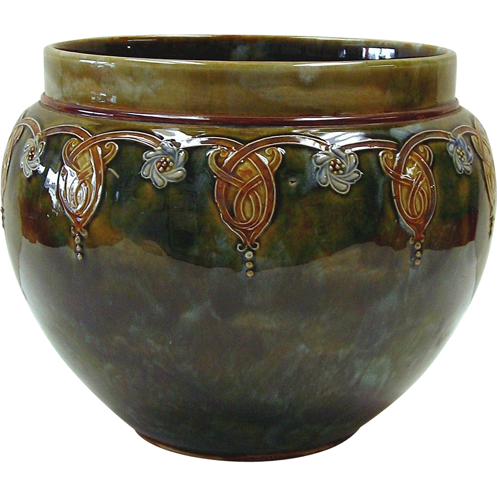 Royal Doulton Jardiniere in Arts and Crafts Style