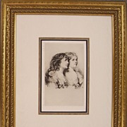 The Twins, Original Etching by Sir Francis Seymour Haden