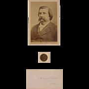 Autograph of Civil War Union General, Presidential Election Token