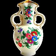 Antique Floral Porcelain Vase by Doulton - Burslem