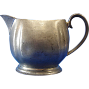 Pewter Cream Pitcher by Crescent Silver Ware Mfg Co. NY
