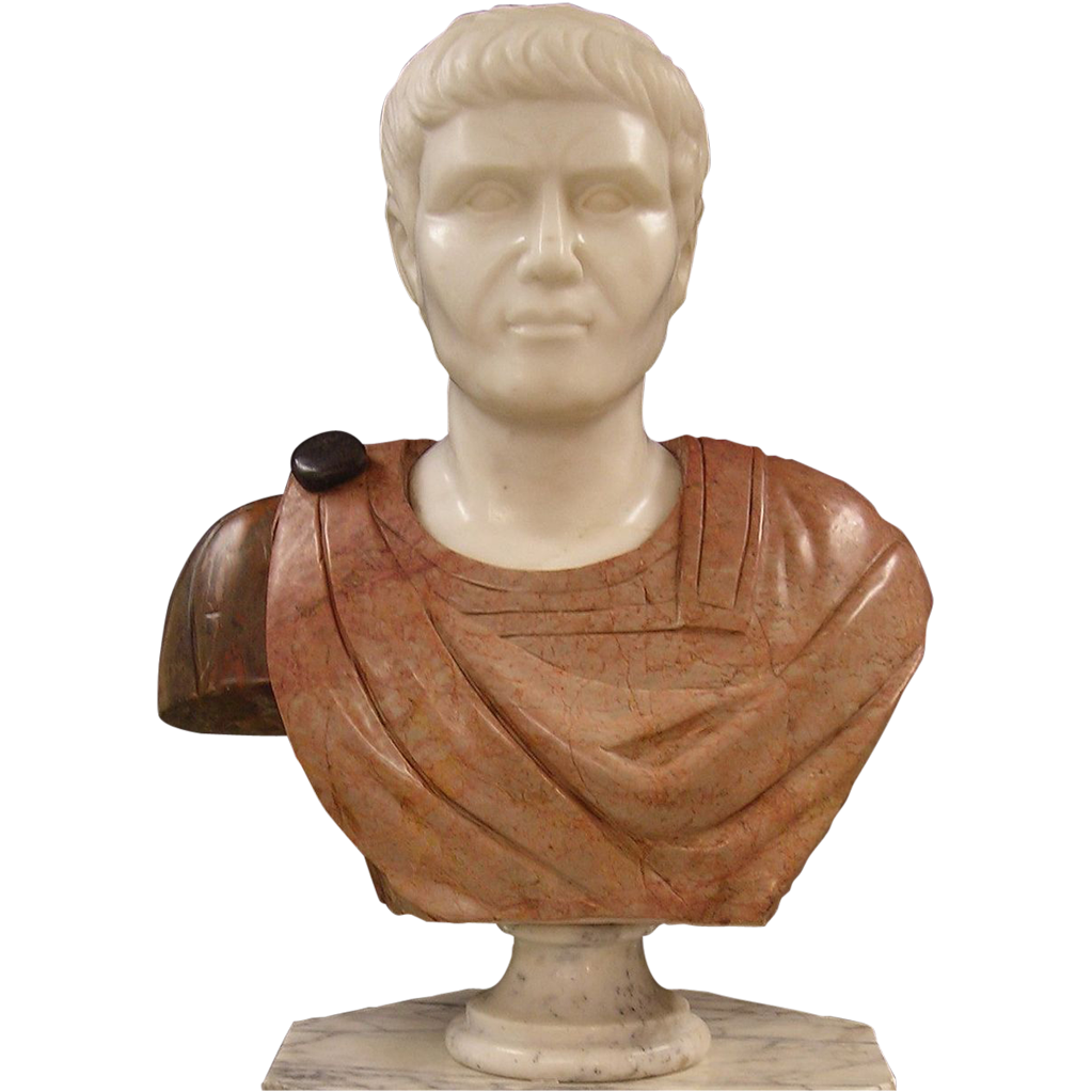 Marble  Bust of  Marc Antony - Hand Carved