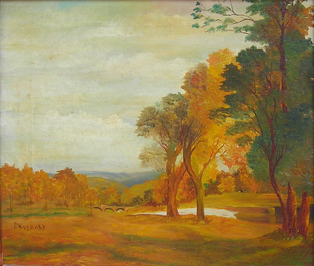 Autumn In The Hills - 20th Century American Oil Painting