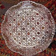 American Cut Glass Berry Bowl - Unusual Design