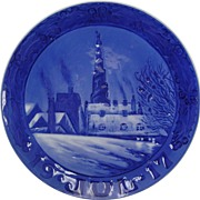 1917 Christmas Collector's Plate by Royal Copenhagen
