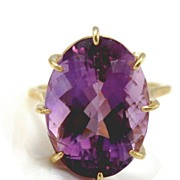 Amethyst Ring 14kt Yellow Gold - 19.43cts