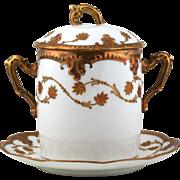 Limoges Condiment Jelly Jar - A. Klinenberg - C. Dwenger