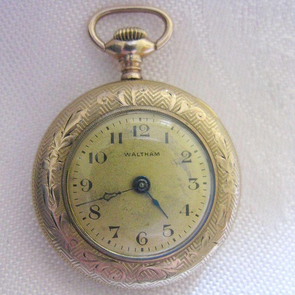 Working 1916 Waltham 15 Jewel Gold Filled Ladies Pocket