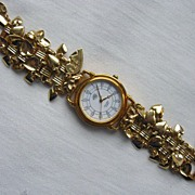 Vintage KIRK'S FOLLY Hearts & Cherubs Wristwatch