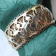 Early JULIO MARSELLA Two-Tone Mesh Cuff Bracelet